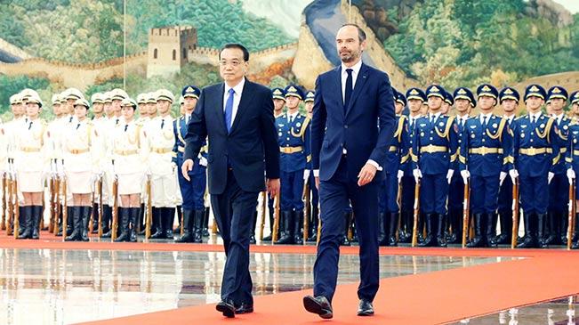 李克强与法国总理菲利普举行会谈
