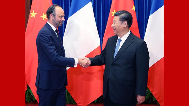 习近平会见法国总理菲利普