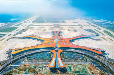 北京大兴国际机场即将满月乘客有